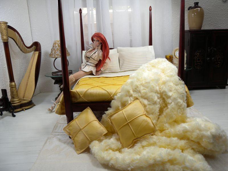 Mēbeles un interjeri / Кукольная мебель и интерьеры LLBED018.sandalwood-12